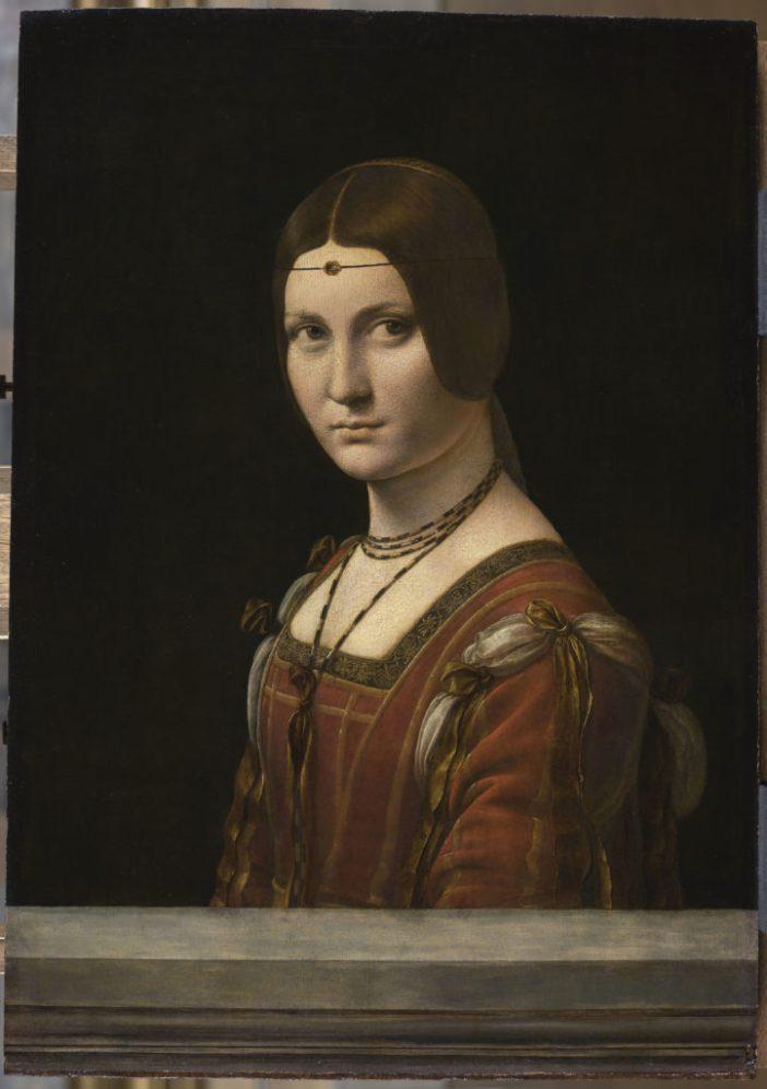 Leonardo da Vinci, Portrait de femme, dit La Belle Ferronnière(1490). Paris, Musée du Louvre. © RMN-Grand Palais (musÈe du Louvre) / Michel Urtado.