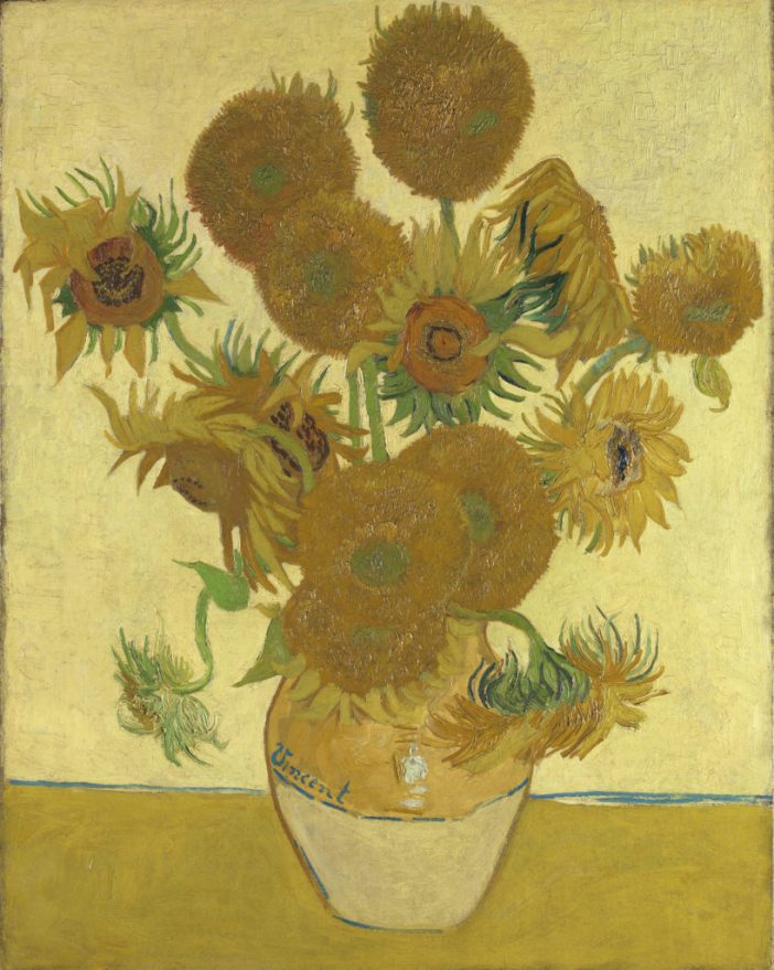 Vincent van Gogh, Sunflowers (1888). Courtesy of the National Gallery, London.