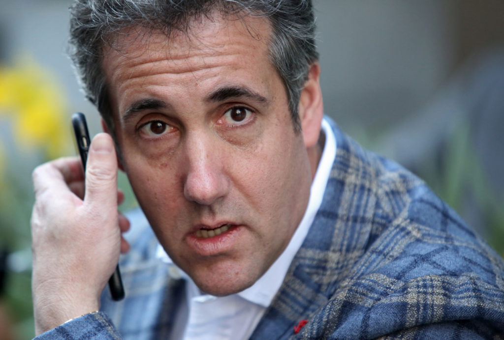 Michael Cohen, president Donald Trump's personal attorney, takes a call near the Loews Regency hotel on Park Ave on April 13, 2018 in New York City. Photo by Yana Paskova/Getty Images.