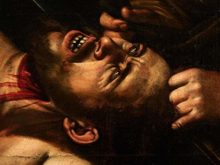 Caravaggio, Judith Beheading Holofernes (circa 1607), detalhe. Cortesia: Cabinet Turquin