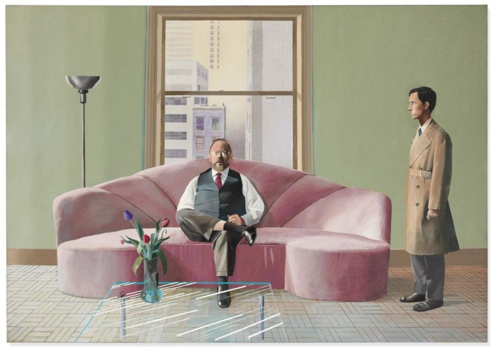 David Hockney, Henry Geldzahler y Christopher Scott (1969).  Cortesía de Christie's Images Ltd.