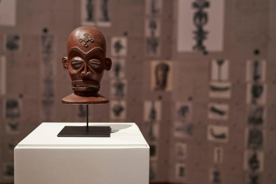 Chokwe Mask that went missing from the Dundo Regional Museum in Angola during the civil war (1975-2002). The mask was returned to the Angolan authorities after the exhibition of Sindika Dokolo's collection, <i>IncarNations. African Art as Philosophy</i> at BOZAR – Centre for Fine Arts.
