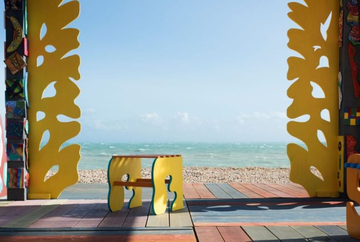 Sol Calero, Casa Anacaona (2017), part of Folkestone Artworks, commissioned by Creative Folkestone. Image by Thierry Bal.