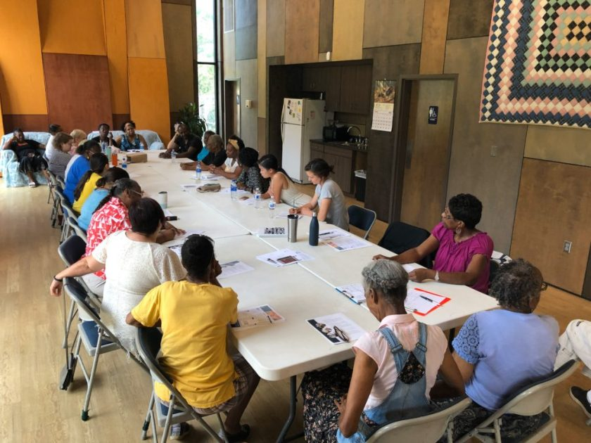 Community Meeting at Gee's Bend Welcome Center with Souls Grown Deep, Nest, and Democracy at Work Institute in August 2019. © Scott Browning.