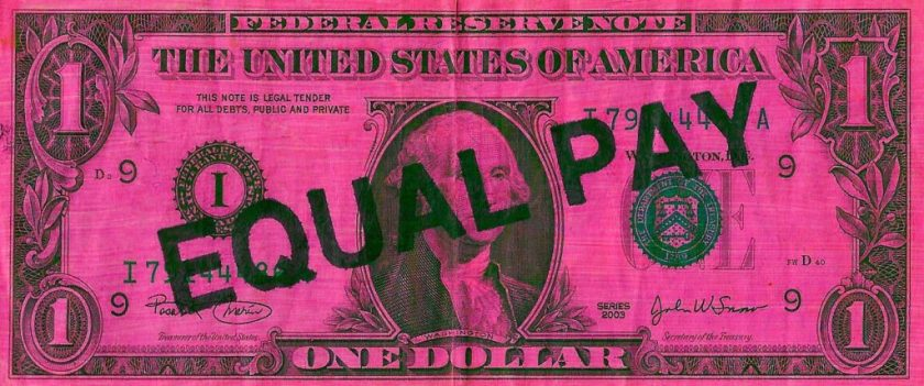 """Michele Pred, <em>Equal Pay</em> (2020). Courtesy of Michele Pred. """" width=""""1024″ height=""""428″ srcset=""""https://news.artnet.com/app/news-upload/2020/02/michele-pred-equal-pay-1024×428.jpg 1024w, https://news.artnet.com/app/news-upload/2020/02/michele-pred-equal-pay-300×125.jpg 300w, https://news.artnet.com/app/news-upload/2020/02/michele-pred-equal-pay-50×21.jpg 50w"""" sizes=""""(max-width: 1024px) 100vw, 1024px""""></p> <p class="""