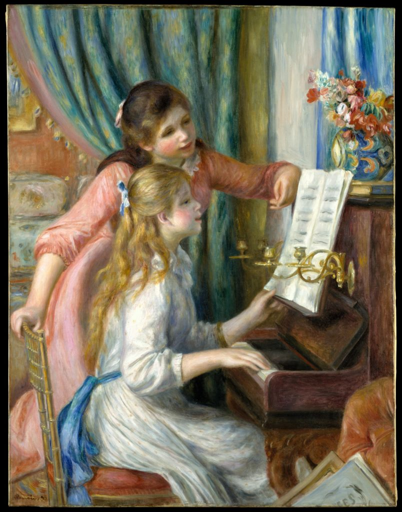 Auguste Renoir, <em>Two Young Girls at the Piano</em> (1892). Courtesy of the Metropolitan Museum of Art.
