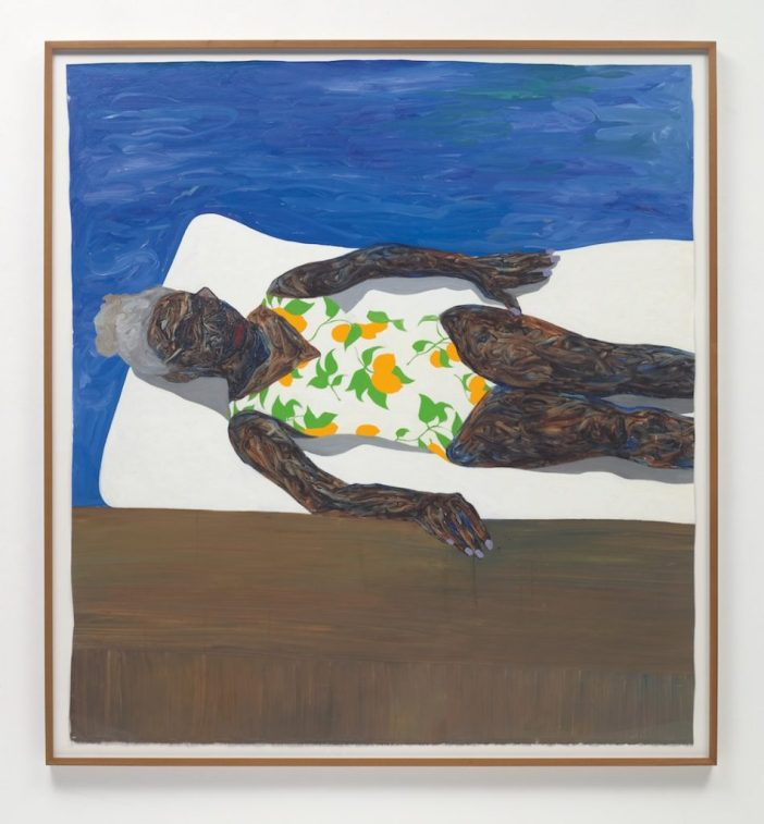 Amoako Boafo, The Lemon Bathing Suit (2019). Image courtesy of Phillips