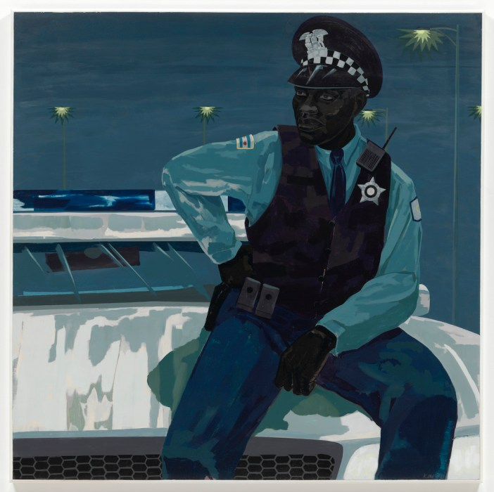 Kerry James Marshall, Untitled (policeman) (2015). © Kerry James Marshall. Courtesy the artist and Jack Shainman Gallery, New York.