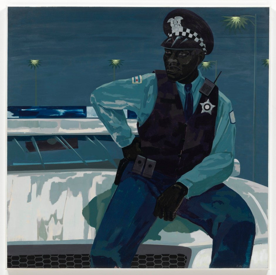Kerry James Marshall, <i>Untitled (policeman)</i> (2015). © Kerry James Marshall. Courtesy the artist and Jack Shainman Gallery, New York.