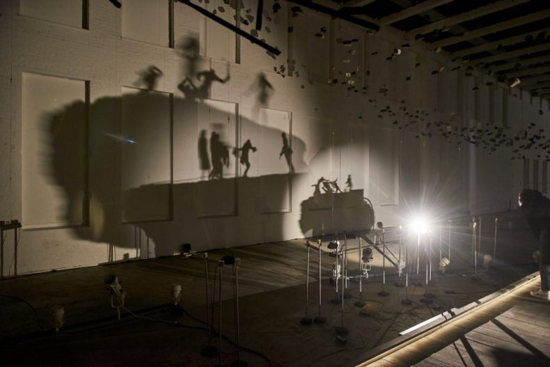 """A view from Glenn Kaino's """"In the Light of a Shadow"""" on view now at Mass MoCA. Photo courtesy the artist and Mass MoCA."""