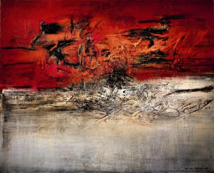 Zao Wou-Ki,13.02.62(1962). Courtesy of Sotheby's Hong Kong.