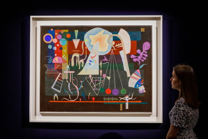 Wassily Kandinsky Tensions calmees (1937) Photo by Tristan Fewings/Getty Images for Sotheby's