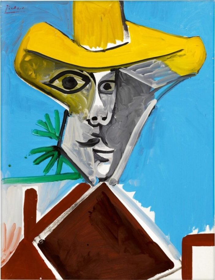 Pablo Picasso,Buste d'homme(1969). Courtesy of Sotheby's.