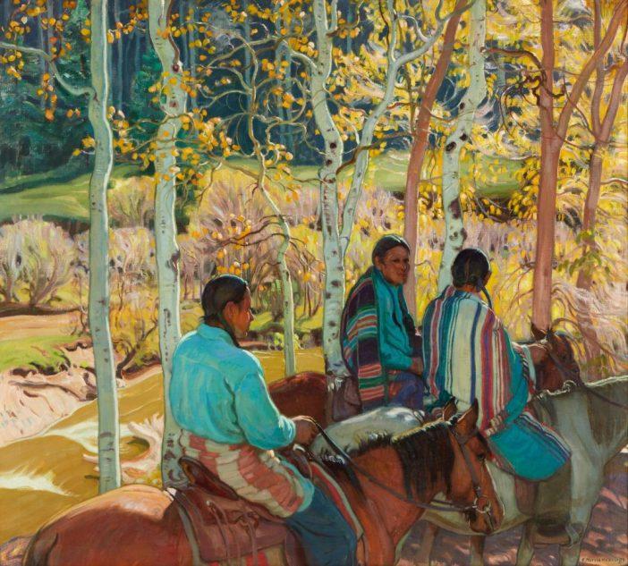 Ernest Martin Hennings,Indian Horsemen(c.1925). Courtesy of Bonhams