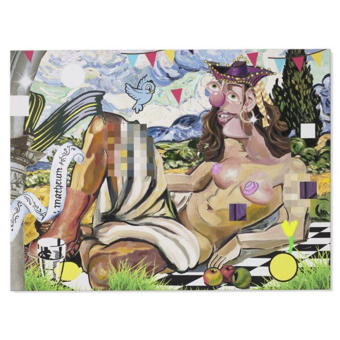 Allison Zuckerman, Harlequin Nude (2020). Courtesy of Christie's Images, Ltd.