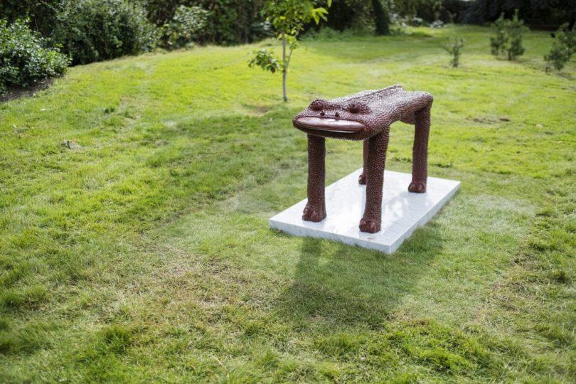Frieze Sculpture Park, Regent's Park, London. Yunizar, Induk Monster (Mother Monster) (2017). Gajah Gallery. Photo by Linda Nylind.