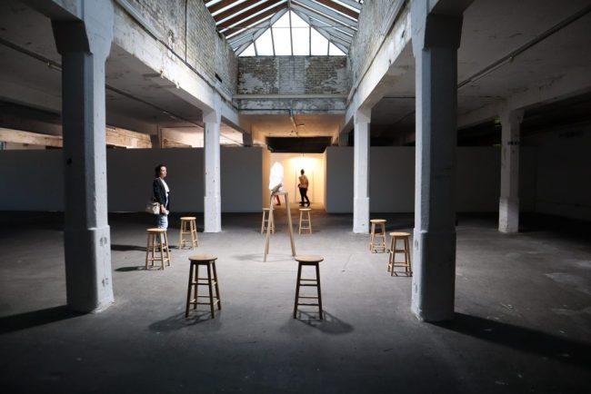 "Installation view, Marina Abramović, ""Traces."" Photo by Naomi Rea."