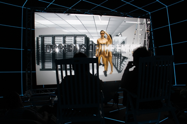 Hito Steyerl at the German Pavilion.Photo: Job Piston.