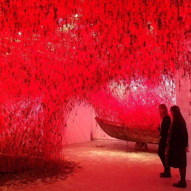 """#chiharusiota #japan #pavilion #VeniceBiennale #keyinhand #gioppone"" - @lapislazulibbl"