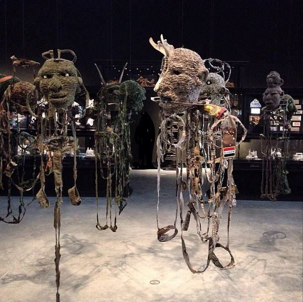 """Masterpieces at #AustralianPavilion, ""All the King's men"", #FionaHall 2015 (knitted military uniforms). #EarlymorningatGiardini #VeniceBiennale"" - @giovannileonardobassan"