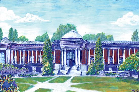 Madelaine Corbin, <em>OSU Memorial Union Façade</em>. Courtesy Oregon State University.