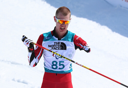mark arendz during the skiing portion of biathlon