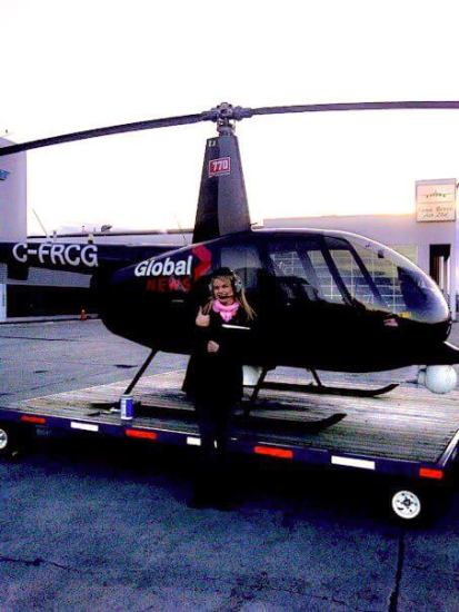 cathy standing by news chopper
