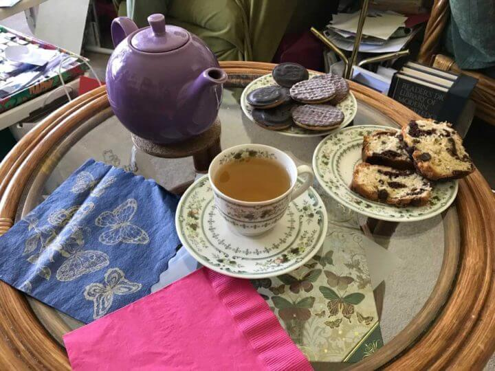 english style biscuits and tea