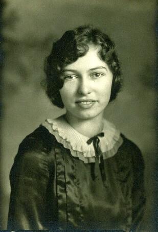Helen S. Petersen Bentley's high school graduation photo, Dike, Iowa [ca. 1930]
