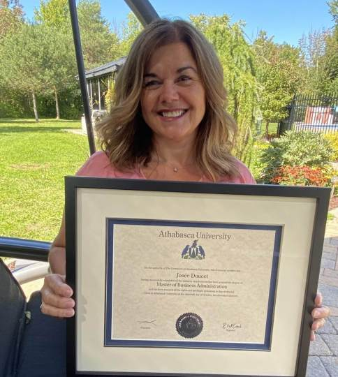 Josee and her MBA degree!