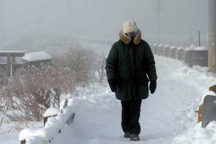 Пешеход в мороз