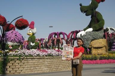 Miracle Garden - великолепный цветочный парк в столице ОАЭ