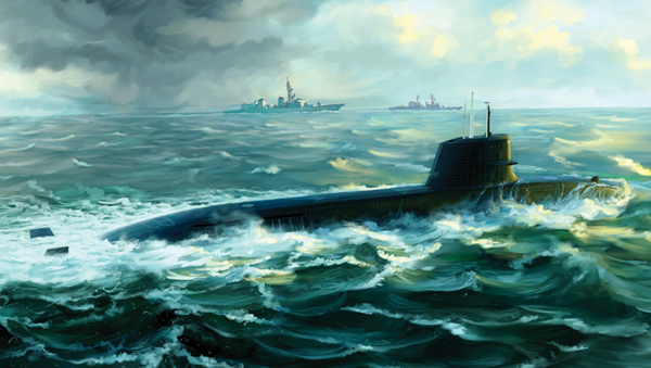 PKTM05911 Japanese Soryu Class Attack Submarine