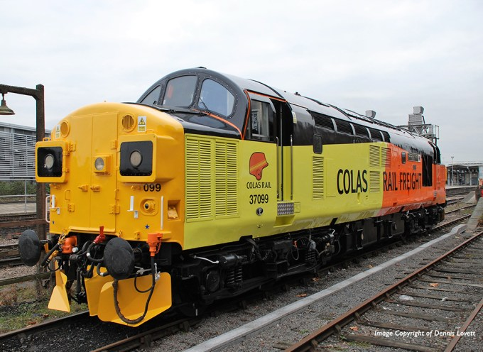 Colas Rail named thier Class 37 37099 in honour of Merl Evans, Bachmann Europe's Head of Research and Development.