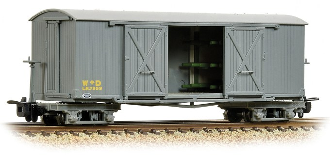 NEW 2019 Bachmann OO9 Bogie Covered Ambulance Van WD Grey (393-025A)