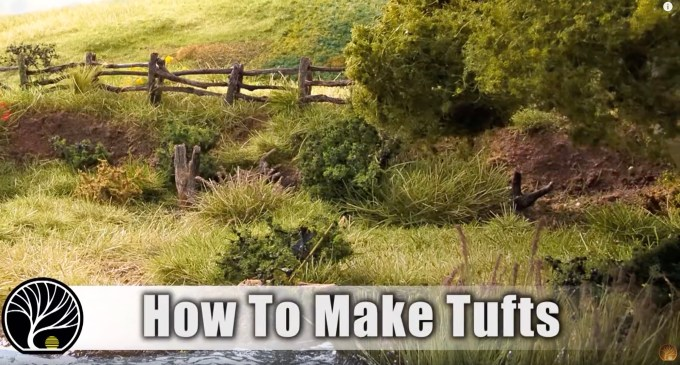 You can create grass tufts with only 3 products:  Tuff-tack glue, the Static King & Static Grass in the colour & length of your choice!