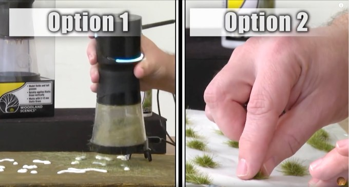 There are 2 method options for creating grass tufts for your layout or diorama