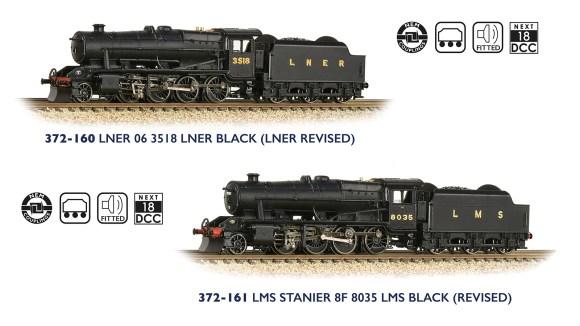 Graham Farish 372-160 LNER 06 & 372-161 LMS 8F