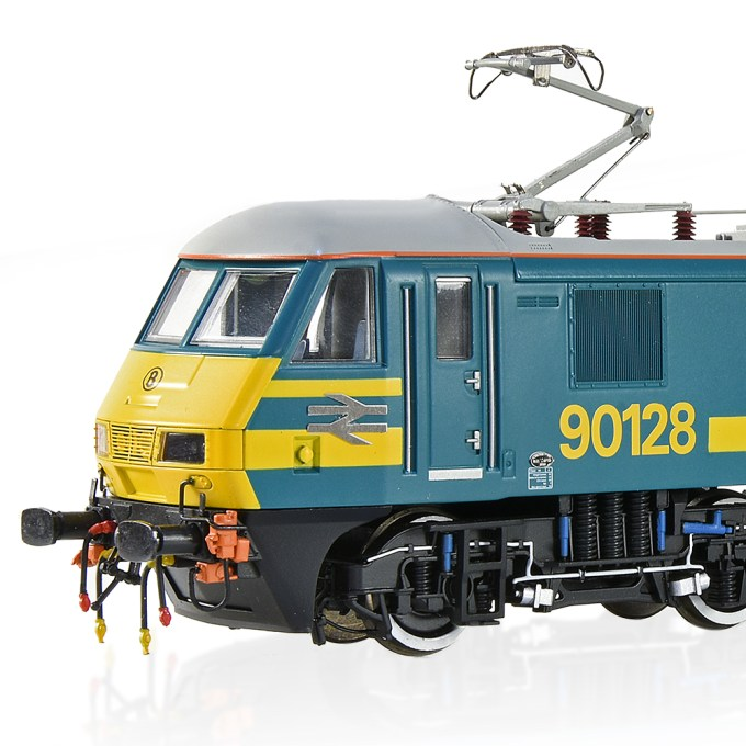 Close up of cab end and Pantograph of Bachmann Collectors Club Class 90