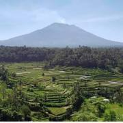 mount agung downgraded