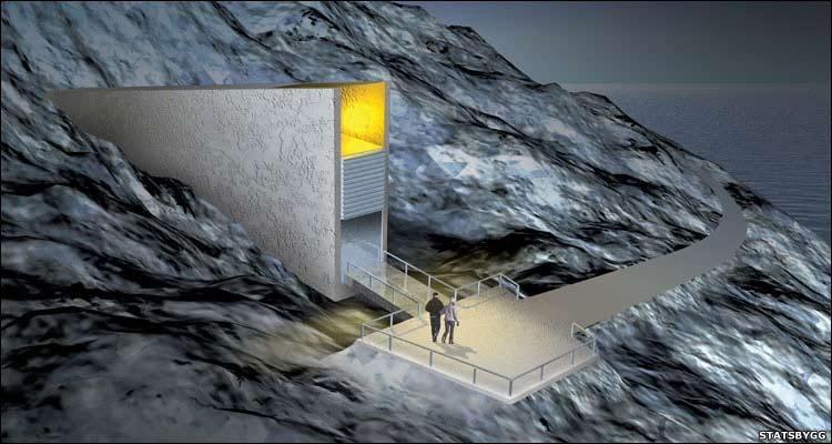 Ilustración que recrea la entrada de la bóveda