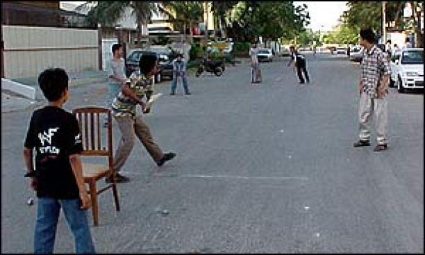 Image result for Street cricket