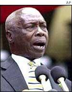 Former Kenyan President Daniel arap Moi