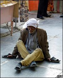 伊拉克首都街�的乞丐