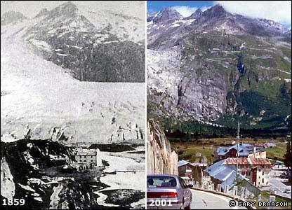 Glaciar Rhone en Valais, Suiza