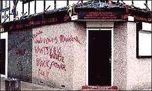 Racial graffiti in Oldham