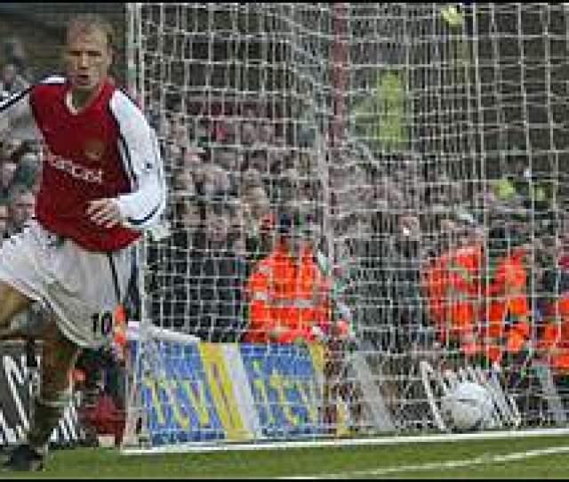 Dennis Bergkamp Scores For Arsenal Against Liverpool
