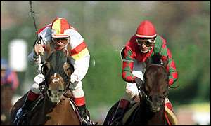 DA HOSS(right) held off Hawksley Hill by a head in the biggest comback since Elvis in 68, the 1998 BC Mile.