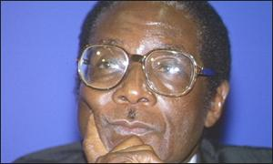 Robert Mugabe = President of Zimbabwe