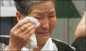 A former comfort woman in South Korea